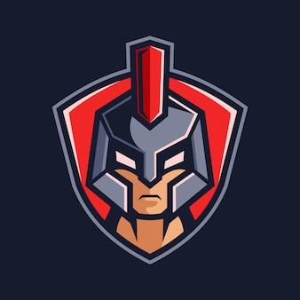 Gladiator hoofd team logo ontwerp