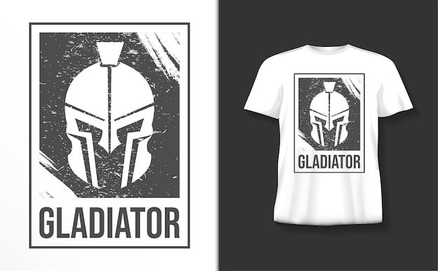 Gladiator typografie tshirt