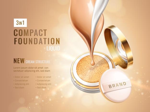 Glamour compacte foundation-advertenties