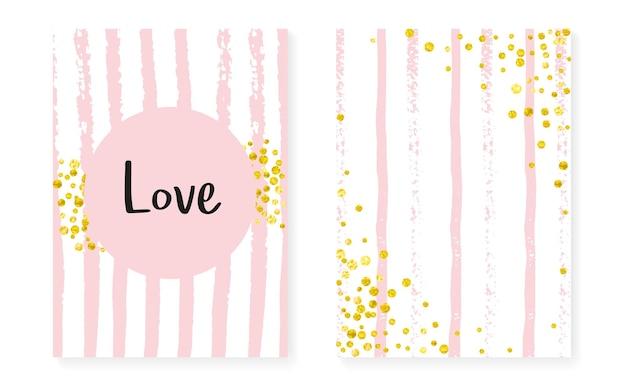 Glamour pailletten. gouden carnaval afdrukken. rozen spray. streep mode-element. roze kwekerij kaart. zwart stijlvol behang. scandinavische brochureset. gestreepte glamour pailletten