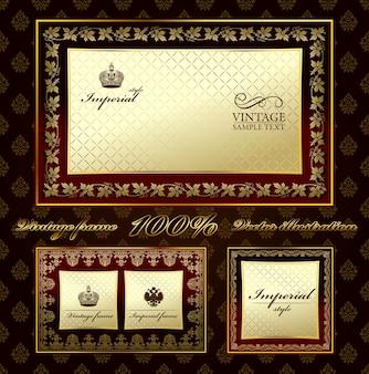Glamour vintage gouden frame decoratief ornament