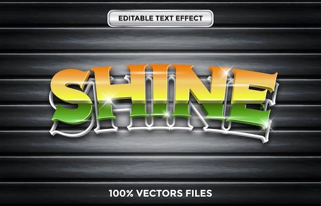 Glans 3d-teksteffect premium vector