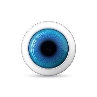 Glanzend 3d-oog. illustratie.