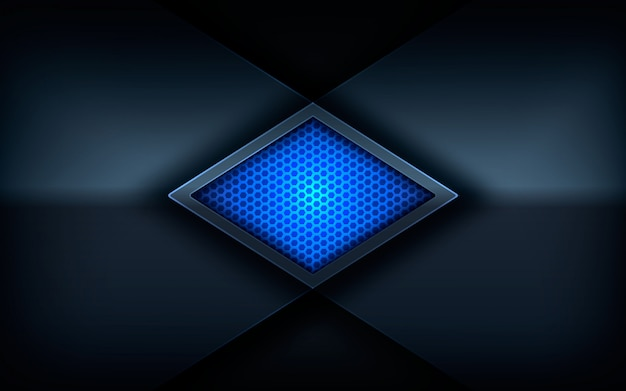 Glanzend blauw kleurenlicht op donkere abstracte achtergrond