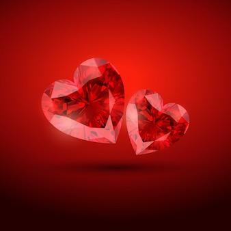 Glanzend diamond harten