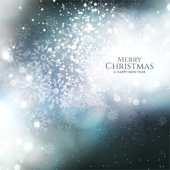 Glanzend glitters vrolijk kerstfeest achtergrondontwerp