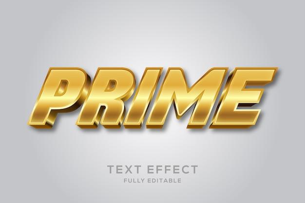 Glanzend gouden bewerkbaar teksteffect