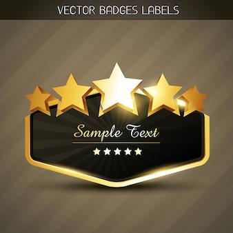 Glanzend gouden label