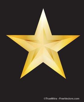 Glanzend gouden ster wenskaart