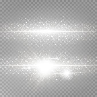 Glanzend lichtgevend stof en verblinding.