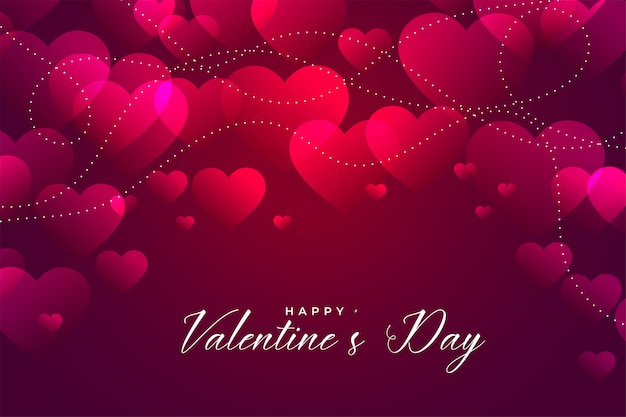 Glanzend roze valentijnsdag harten ontwerp