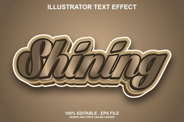 Glanzend teksteffect bewerkbaar