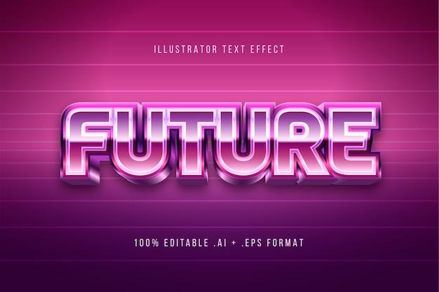 Glanzend toekomstig teksteffect