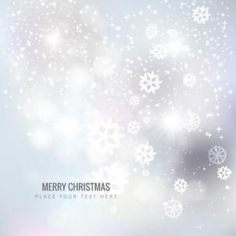 Glanzend witte kerst sneeuwvlokken achtergrond