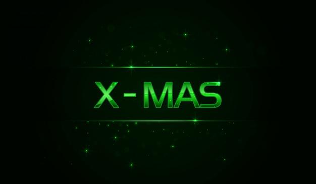 Glanzend x - mas-opschrift