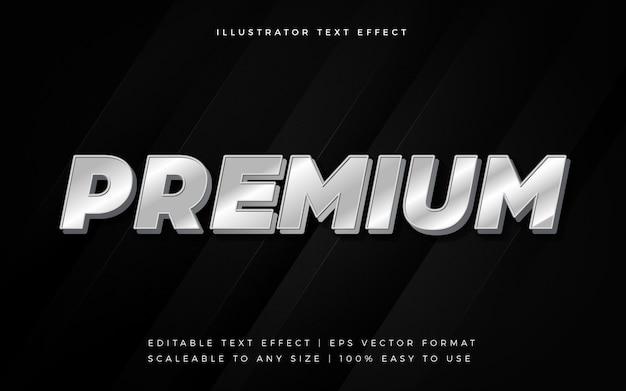 Glanzend zilver premium tekststijl lettertype-effect