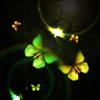 Glanzende abstracte vlinder achtergrond