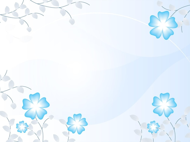 Glanzende achtergrond versierd met bloemen