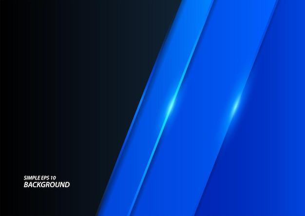 Glanzende blauwe lijnenachtergrond, moderne elegante vectorachtergrond in eps10