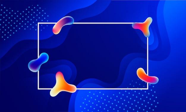 Glanzende blauwe vloeibare kunst of vloeibare bellen abstracte achtergrond met