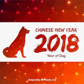 Glanzende chinese nieuwe jaarachtergrond