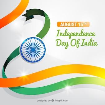 Glanzende dag van de onafhankelijkheid van india achtergrond