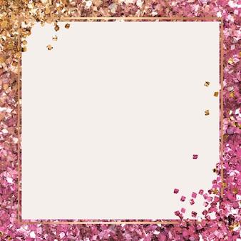 Glanzende frame roze achtergrond met kleurovergang