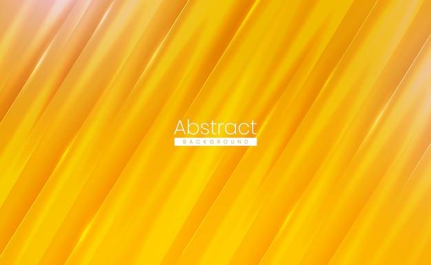 Glanzende gele moderne abstracte achtergrond met zacht gestructureerd glanzend oppervlak