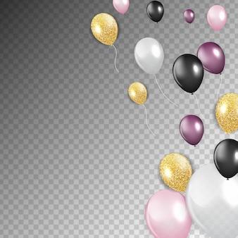 Glanzende gelukkige verjaardag ballonnen