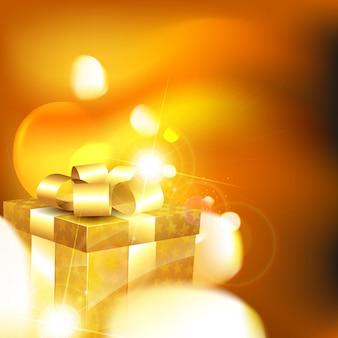 Glanzende geschenkdoos achtergrond