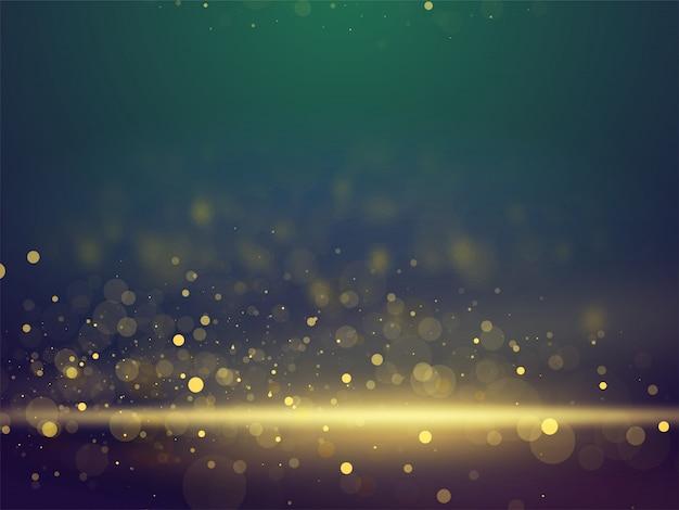 Glanzende glinsterende bokeh abstracte verlichting wazig achtergrond.
