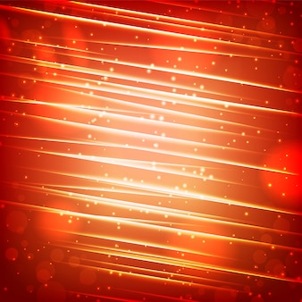 Glanzende gloeiende abstracte sjabloon met sprankelende balken en lichteffecten op onscherpe achtergrond