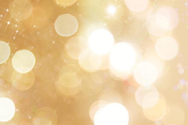 Glanzende gouden feestelijke bokehachtergrond
