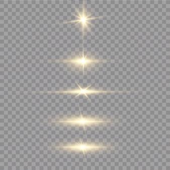 Glanzende gouden geïsoleerde sterren