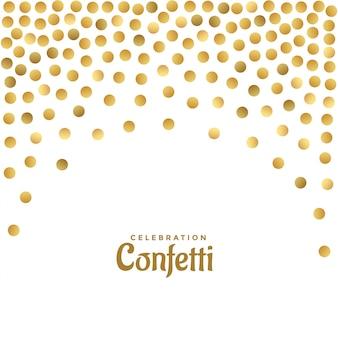 Glanzende gouden glitter polka achtergrond