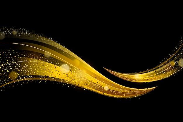 Glanzende gouden golfachtergrond