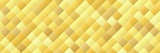Glanzende gouden kleurovergang rhombus naadloze patroon
