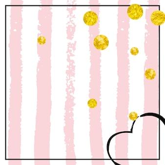 Glanzende gouden schittering. roze gatsby uitnodigen. kerst sterrenstof. viering deeltjes. roos abstracte starburst. gouden feestelijke flyer. plakboek ontwerp. streep glanzend goud sparkle