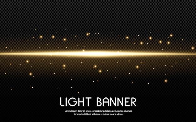 Glanzende gouden sterren die op zwarte achtergrond worden geïsoleerd. effecten, lensflare, glans, explosie, gouden licht, set. stralende sterren, prachtige gouden stralen. .