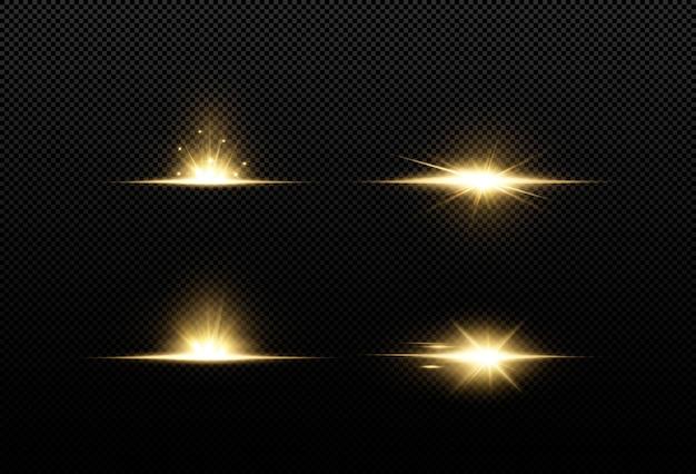 Glanzende gouden sterren geïsoleerd