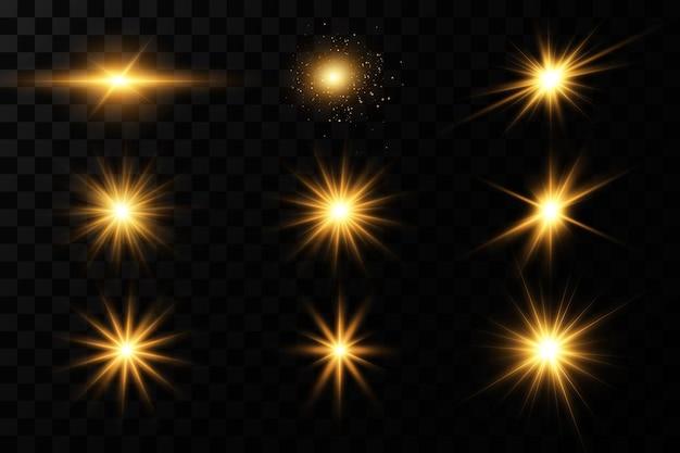Glanzende gouden sterren