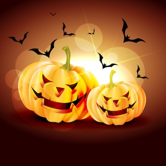 Glanzende halloween-pompoen