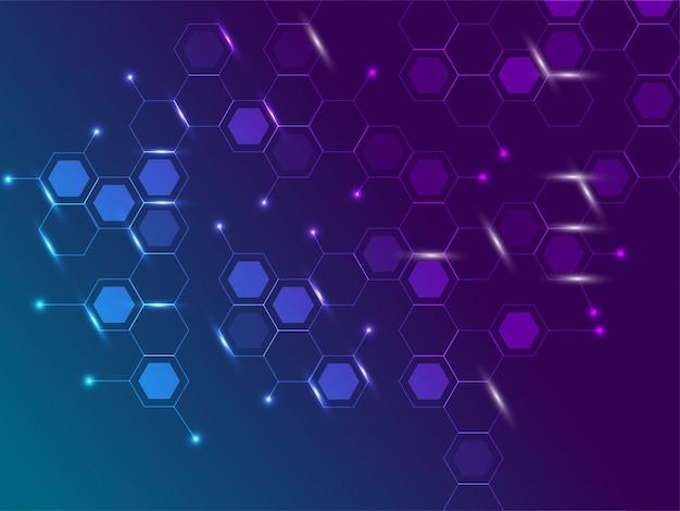 Glanzende hexagon zeszijdige veelhoeksymbolen.