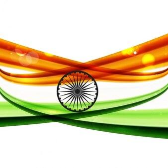 Glanzende indiase vlag achtergrond