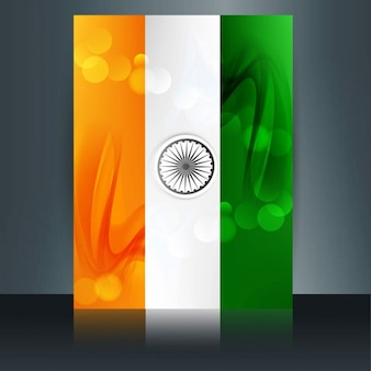 Glanzende indiase vlag brochure
