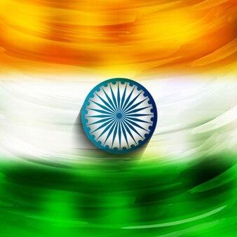 Glanzende indiase vlag ontwerp