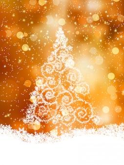 Glanzende kerstboom. bestand opgenomen