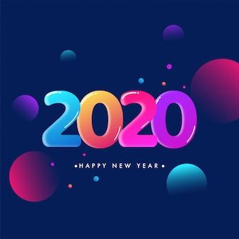Glanzende kleurrijke 2020-groetachtergrond