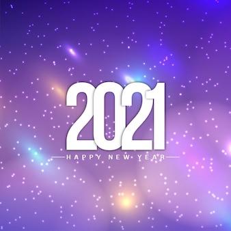 Glanzende kleurrijke gelukkig nieuwjaar 2021 achtergrond