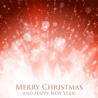 Glanzende kleurrijke kerst
